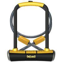 Zapięcie U-lock ONGUARD Pitbull DT 8005 z linką czarny-żółty / Rozmiar: 120 cm 11 x 23 cm