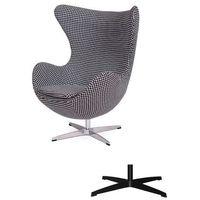 Kultowy fotel EGG CLASSIC - 3 kolory nóżek - wełna - Tetris, King Home