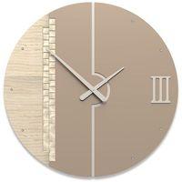 Zegar ścienny Tristan Swarovski CalleaDesign jasny dąb, caffelatte, kolor Zegar
