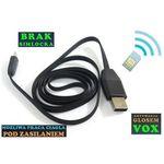 Podsłuch Otoczenia (zasięg cały świat!) Ukryty w Kablu USB-miniUSB + VOX + Powiadomienie o Wejściu., 590734153620