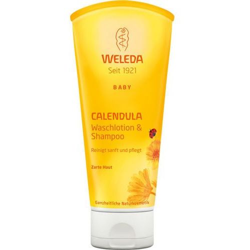 Weleda Calendula baby shampoo and body wash mydło i szampon dla niemowląt z nagietkiem lekarskim 200ml (4001638096515)