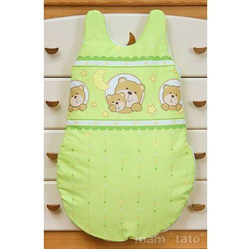 Mamo-tato śpiworek niemowlęcy misie w kółeczkach zielone