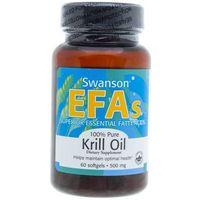 Swanson Olej z kryla antakrytycznego (Krill Oil) 500 mg - 60 kapsułek