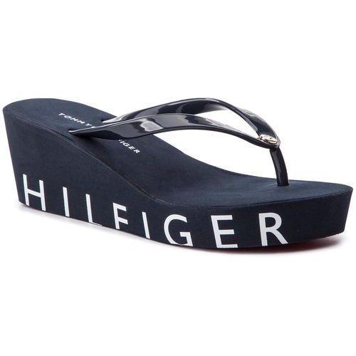 Japonki TOMMY HILFIGER - Hilfiger Wedge Beach Sandal FW0FW04057 Midnight 403, w 5 rozmiarach