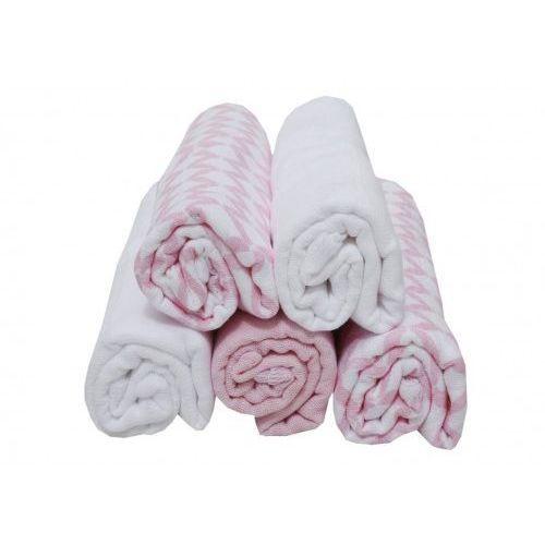 Motherhood pieluszki tetrowe 70x80cm 5 szt różowy classics 2017 - różowy classic