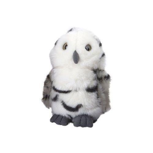 Maskotka mała sowa 12 cm pluszowa biała w prążki marki Nature de brenne