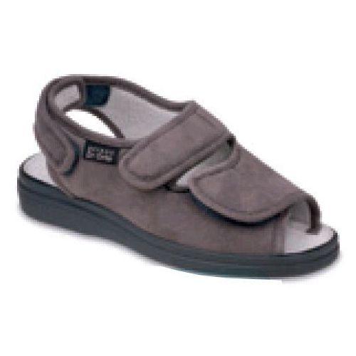 Sandały damskie BEFADO (Dr Orto) - popiel 676D006 profilaktyczne - z jonami srebra