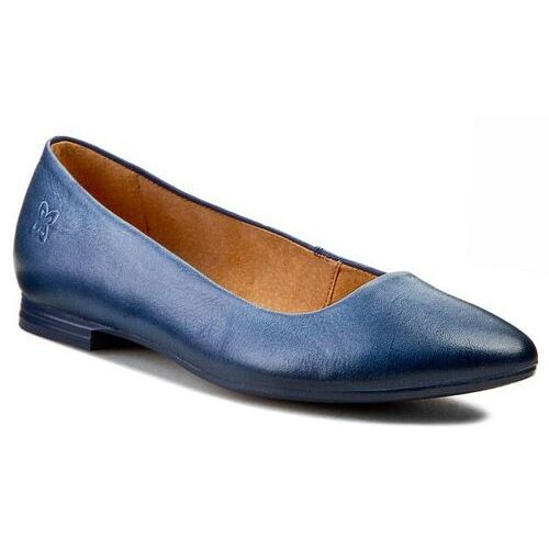 Baleriny MACIEJKA - 00873-28/00-1 Granat, kolor niebieski