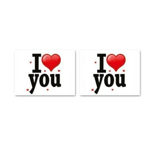 Naklejki na buty I love you - 2 szt. (5907509920127)