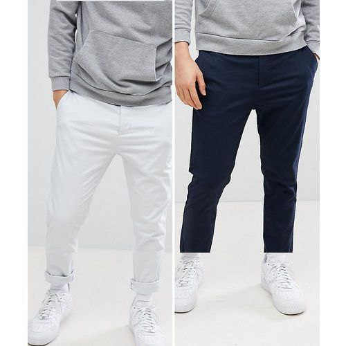 Design 2 pack skinny chinos in navy & ice grey save - multi, Asos