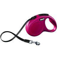 smycz automatyczna new classic s taśma - 5m - do 15kg kolor: czerwony marki Flexi