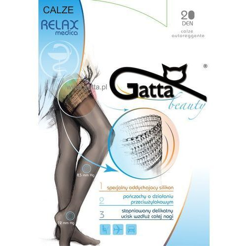 Pończochy samonośne przeciwżylakowe calze relaxmedica 20 den Gatta