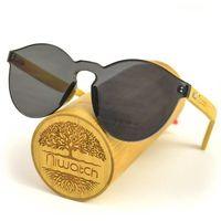 Drewniane okulary przeciwsłoneczne Niwatch Cassiopeia Black