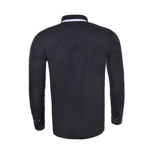 c51beb39f680 Koszula męska długi rękaw rl19 - czarny   szary (Risardi) - sklep ...