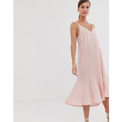 check cami dress in pink - multi marki Mango