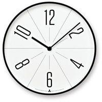 Zegar ścienny Awa Gugu biała tarcza czarna obudowa, AWA13-02-BK