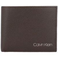 Calvin Klein Portfel skórzany 11 cm dark brown ZAPISZ SIĘ DO NASZEGO NEWSLETTERA, A OTRZYMASZ VOUCHER Z 15% ZNIŻKĄ