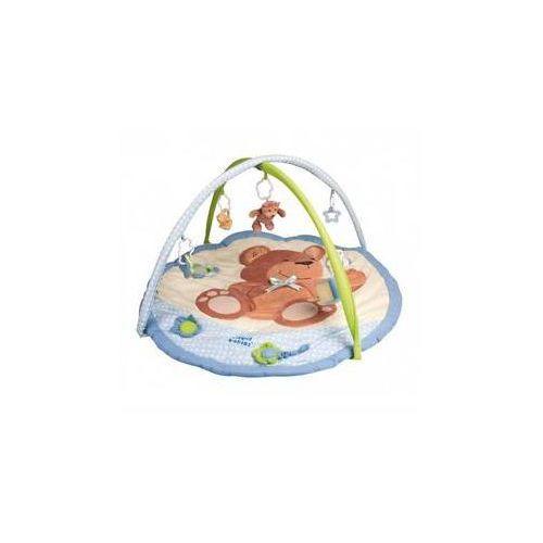 Mata edukacyjna dla dzieci Canpol babies z pozytywką Miś Niebieska