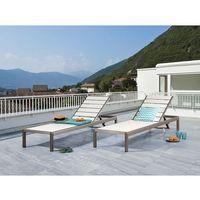 Beliani Leżak biały - ogrodowy - plażowy - tarasowy - nardo (7081457515548)