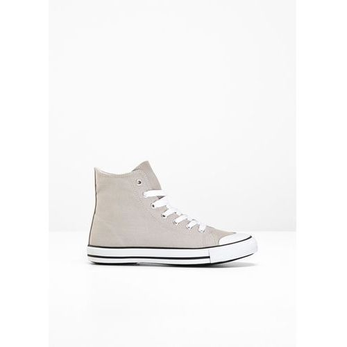 Wysokie sneakersy bonprix jasnoszary