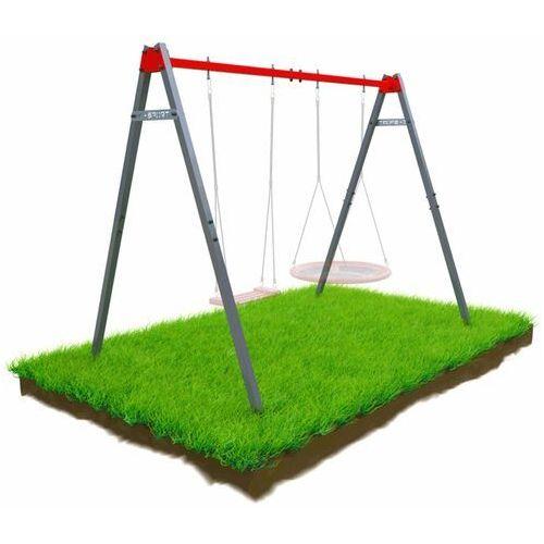 K-sport Huśtawka ogrodowa stelaż podwójny mieszczący bocianie gniazdo i huśtawkę ksoz0015