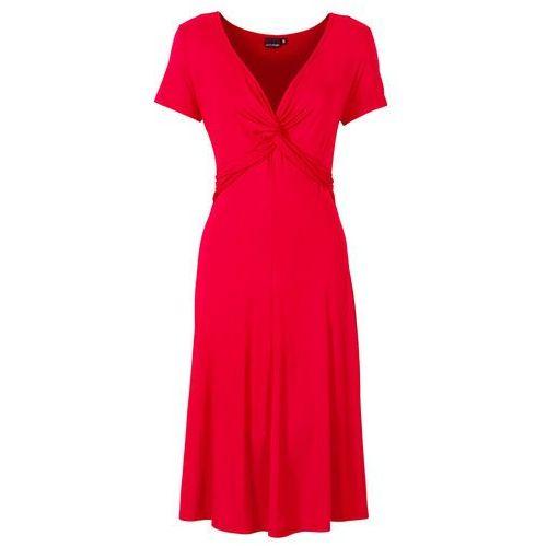 Sukienka dżersejowa ciemnoczerwony, Bonprix, 36-58