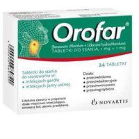Tabletki OROFAR x 24 tabletki do ssania
