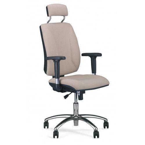 Krzesło obrotowe QUATRO hru r2c steel04 chrome - biurowe z zagłówkiem, fotel biurowy, obrotowy