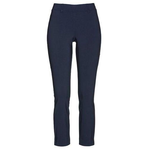 Spodnie 7/8 z bengaliny ciemnoniebieski marki Bonprix