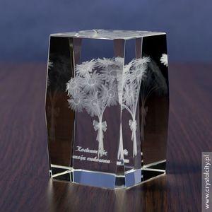 Margerytki 3D • personalizowana statuetka 3D średnia • GRAWER 3D