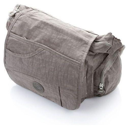 299e3e68e571f Sportowa listonoszka torebka damska na ramię beżowa - beżowy marki Bag  street - 6