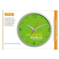 Zegar reklamowy 14' srebrny /350mm marki Atrix