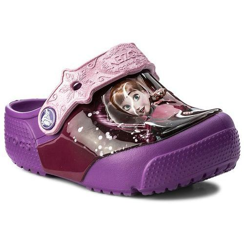 Klapki CROCS - Funlab Lights Frozen Clog 204706 Berry