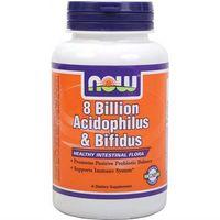 8 Billion Acidophilus & Bifidus 8 miliardów bakterii probiotyk 60 kapsułek NOW FOODS (5902729731355)