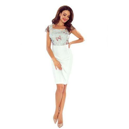 Pudełkowa sukienka koktajlowa z półrękawkami, w 4 rozmiarach