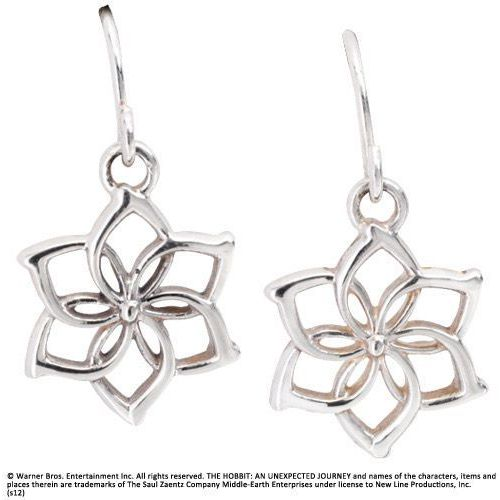 Srebrne kolczyki galadrieli z filmu hobbit - galadriel flower earrings (nn1259) The noble collection