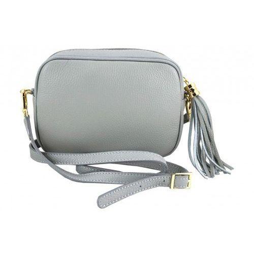 b25586ff10a1c Barberini's - małe torebki listonoszki ze skóry naturalnej - Szary jasny,  kolor szary - fotografia