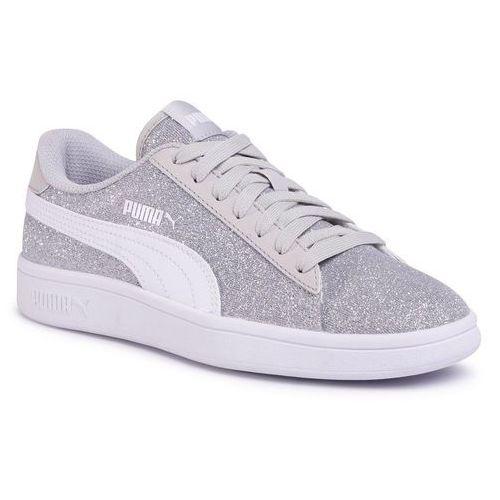 Sneakersy PUMA - Smash v2 Glitz Giam Jr 367377 17 Puma Silver/Pw/Gray Violet, kolor szary