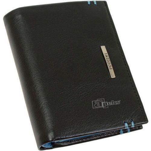 9ca40ac7b208d ▷ Royal blue i-7825 1/7 portfel skórzany męski - czarny   niebieski ...
