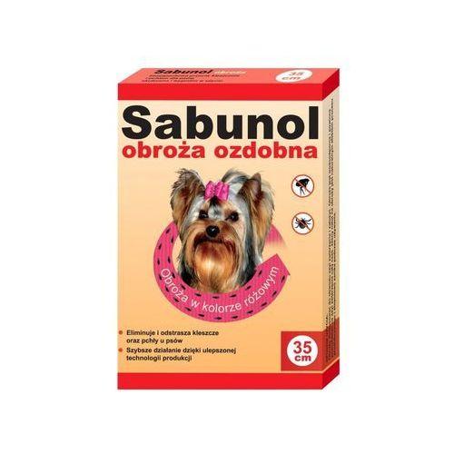 DR SEIDEL Sabunol - ozdobna obroża przeciw pchłom i kleszczom dla Yorka różowa 35cm