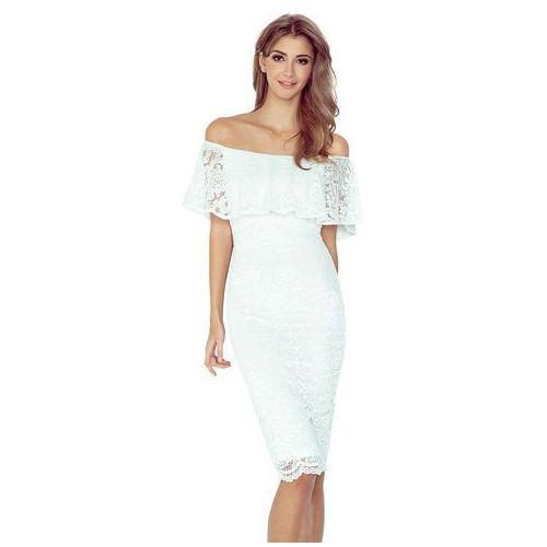 2c6947edb8 Ecru koronkowa sukienka hiszpanka (Numoco) - sklep SkladBlawatny.pl