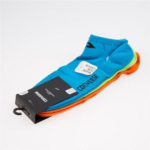 Skarpetki - skarpety converse men 3 pak neon blue neon green neon orange (nblue-ngreen-nora marki Converse