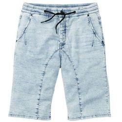 """Bermudy z dzianiny dresowej w optyce dżinsu Regular Fit bonprix niebieski """"used"""