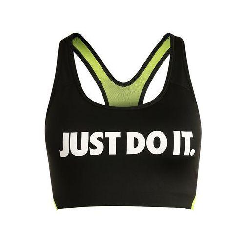 Nike Performance PRO CLASSIC SWOOSH COOLING Biustonosz sportowy black/volt/white, kolor czarny