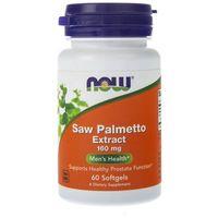 Kapsułki Now Foods Saw Palmetto Extract (Palma Sabałowa) 160 mg - 60 kapsułek