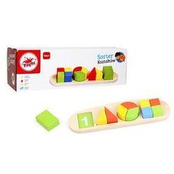 Sorter ksztaltów do nauki liczenia, drewniany marki Playme