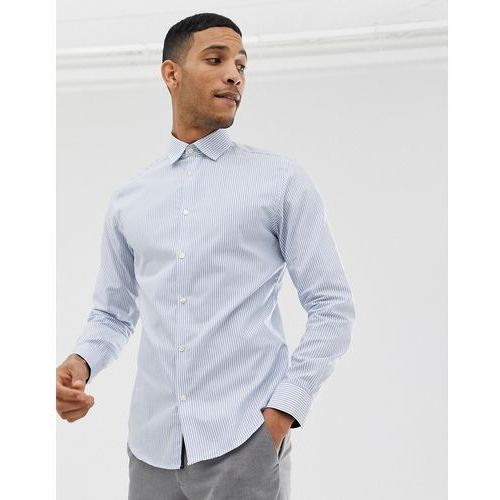 89a47263a Selected Homme Slim fit striped easy iron smart shirt in light blue - blue  Selected homme