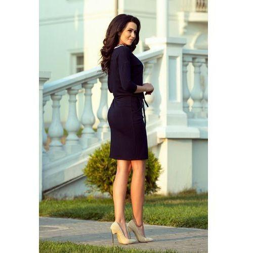292c85e26c Numoco 224-1 Sportowa sukienka ze ściągaczem - GRANATOWA
