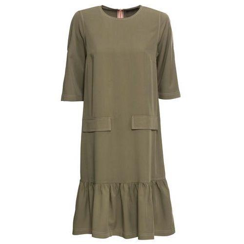 428555b6a8 Zobacz ofertę Must have  sukienka z ozdobną stójką bonprix niebieskozielony