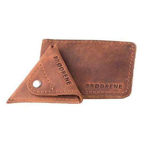 a1b23cbee154c Brodrene Skórzany cienki portfel slim wallet z bilonówką sw02  43 cw01  Brodrene